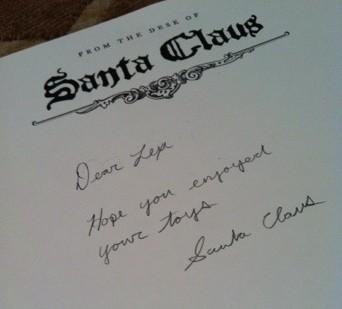 From the Desk of Santa Claus…
